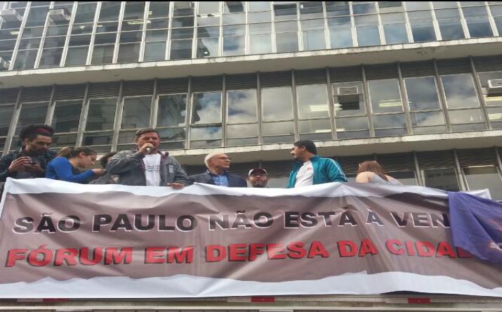 Fórum em Defesa da Cidade mobiliza contra plano privatista de João Doria