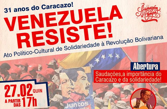 Comitê pela Paz na Venezuela celebra os 31 anos do Caracazo