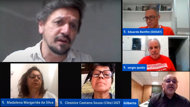 Diesat convida CTB/SP e Centrais Sindicais para debate ao vivo