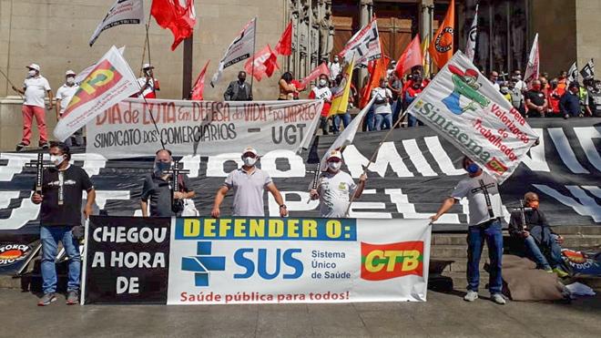 Centrais sindicais juntas contra o genocídio