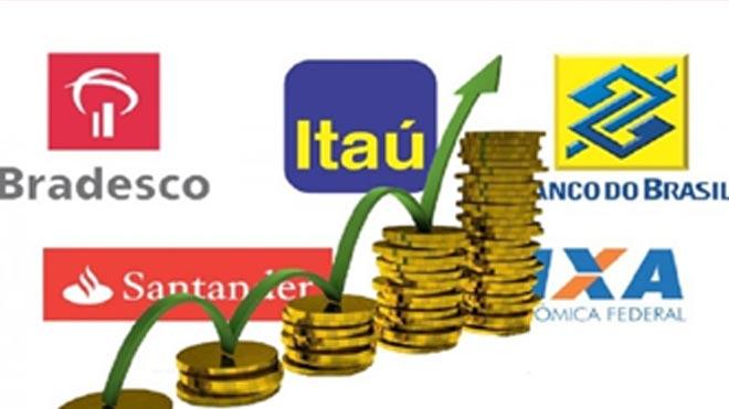 Lucro dos cinco maiores bancos passa de R$ 53 bi