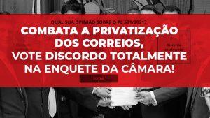 Vote na consulta popular sobre a privatização dos Correios