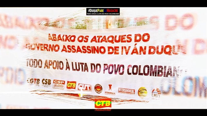 CTB em apoio à luta dos trabalhadores colombianos!