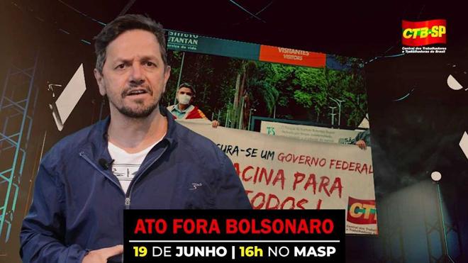 19 de junho | Ato Fora Bolsonaro às 16h no Masp