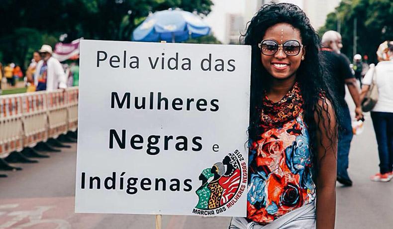 marcha mulheres negras 2015 indios