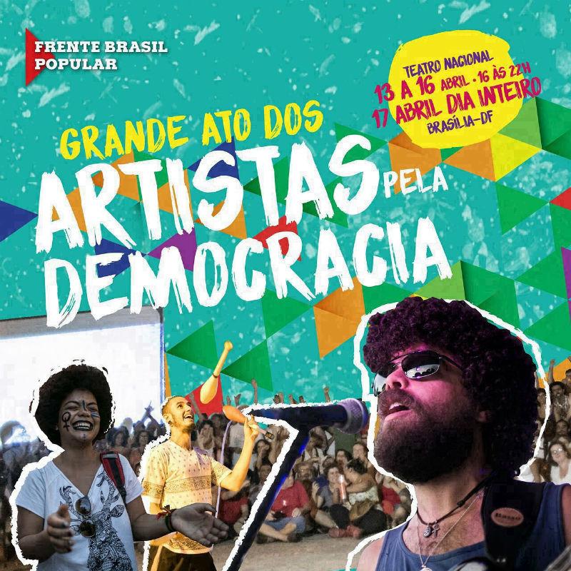 artistas pela democracia brasilia