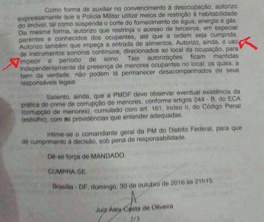 juiz autoriza tortura a estudantes