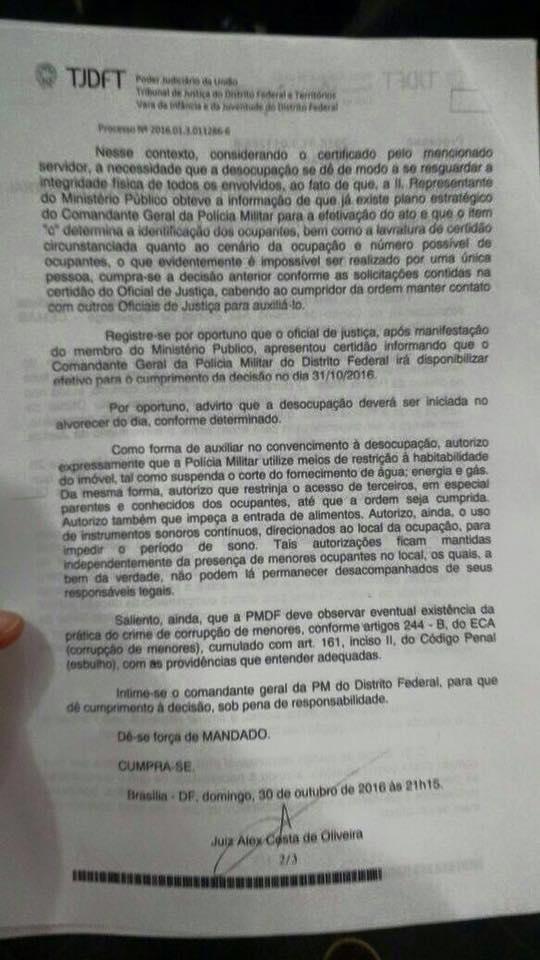 juiz autoriza tortura estudantes df