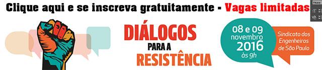 seminario dialogos para a resistencia inscricao