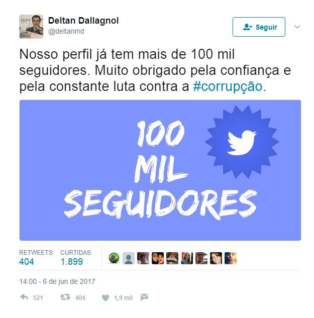 dallagnol twitter picareta