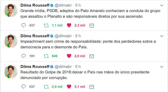 dilma tweets golpe