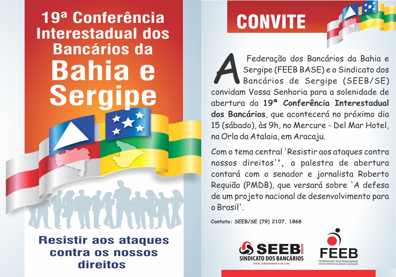 seeb se convite 19 conferencia dos bancarios