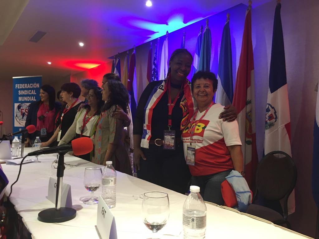 congresso mundial mulheres trabalhadoras fsm celina coordenadora africa do sul