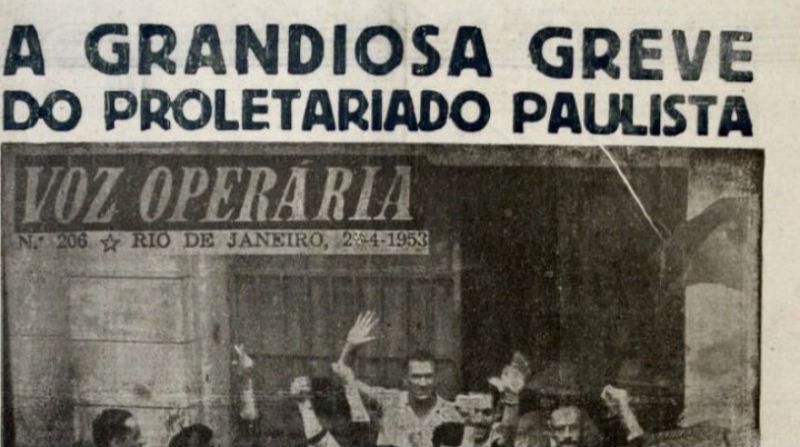 "Há 65 anos, a histórica ""Greve dos 300 mil"" parou as indústrias têxteis e metalúrgicas no país - CTB"