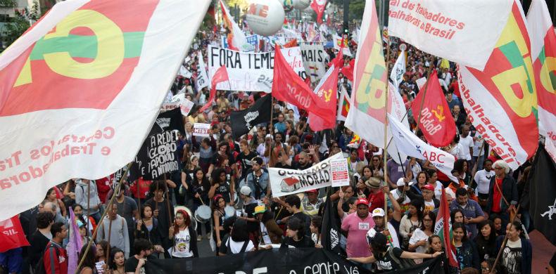 ato contra a reforma da previdencia na avenida paulista 1