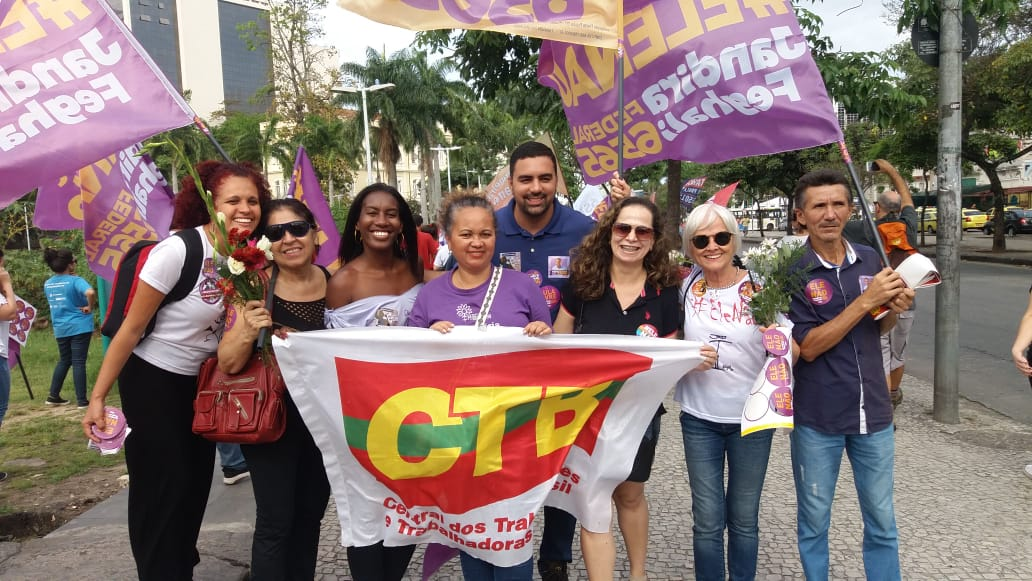 ctb rj katia ayer sandra mulheres contra bolsonaro